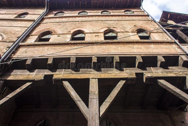 Porticoes de Bolonia, Italia foto de archivo