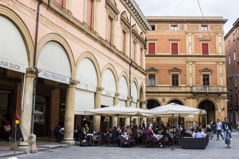 Porticoes de Bolonia, Italia imagen de archivo