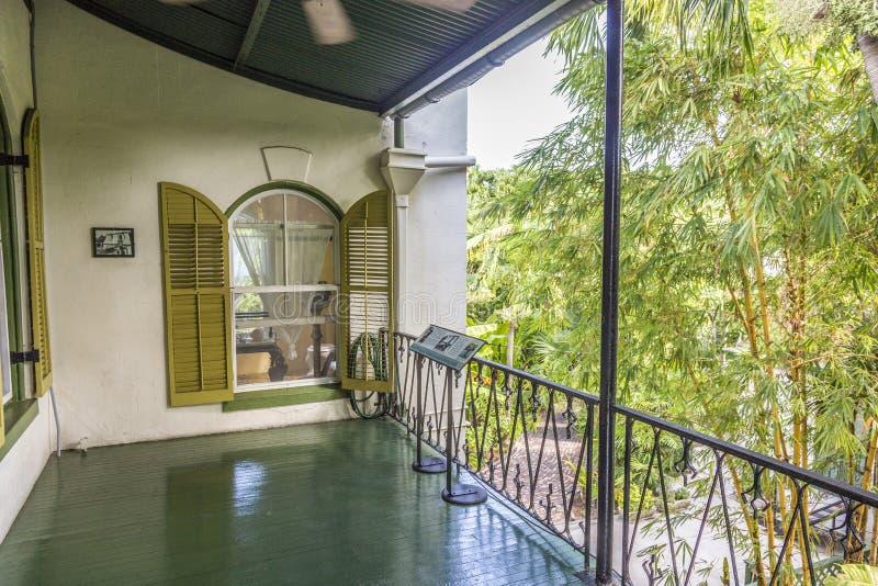 Portiek in Ernest Hemingway Home en Museum in Key West royalty-vrije stock fotografie