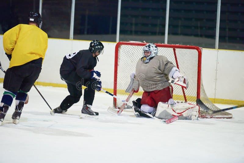 Portiere del hockey su ghiaccio fotografia stock libera da diritti
