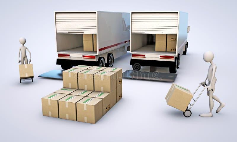 Portiers stock illustratie