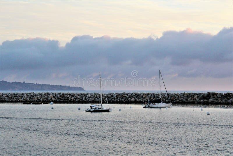 Portifino加利福尼亚海洋边在雷东多海滩,加利福尼亚,美国 库存图片