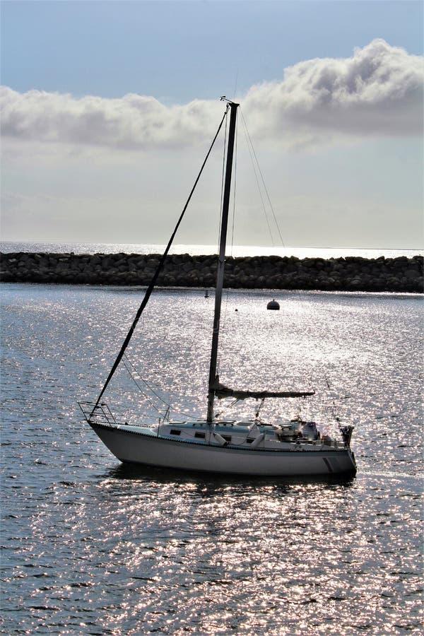 Portifino加利福尼亚海洋边在雷东多海滩,加利福尼亚,美国 库存照片