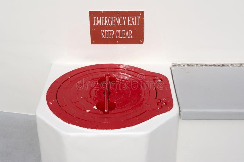 Portilla de escape de la emergencia imagen de archivo libre de regalías