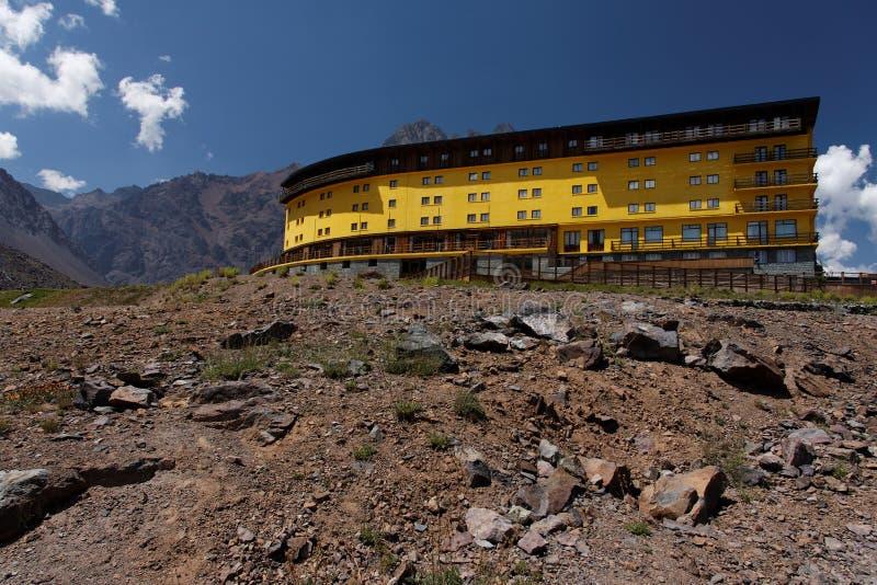 Portillo Bergen en Hotel stock fotografie