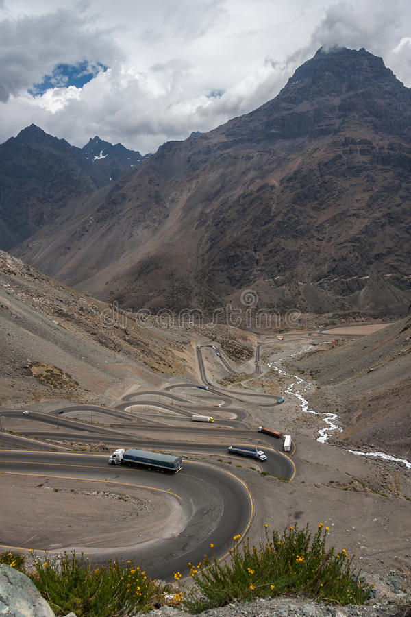Portillo gór Chile karakol obrazy royalty free