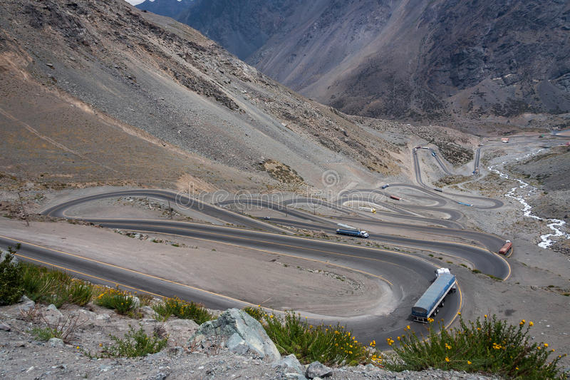 Portillo góry Chile zdjęcie royalty free