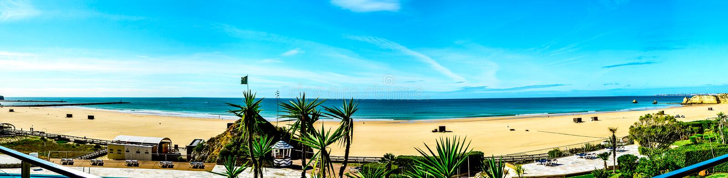 Portimao, Алгарве, Португалия, Атлантический океан стоковое изображение rf