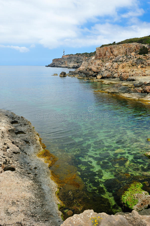 portinatx Испания ibiza стоковое изображение