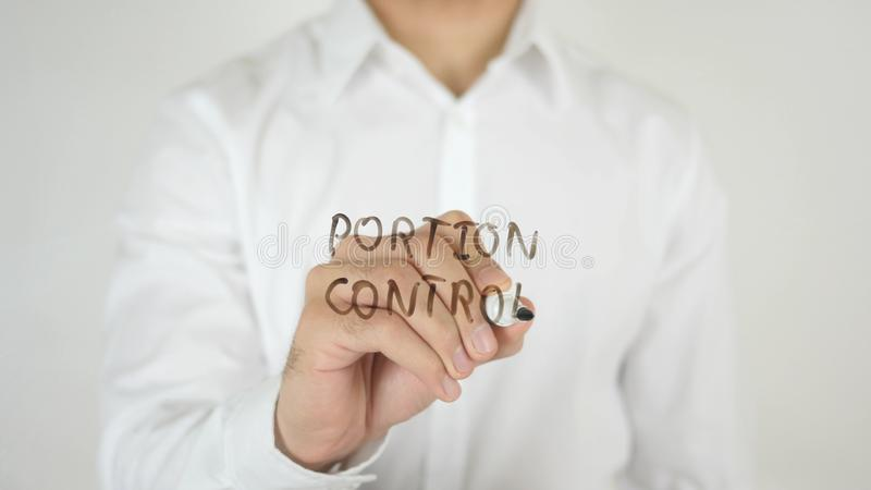 Portion Control, Written on Glass stock images