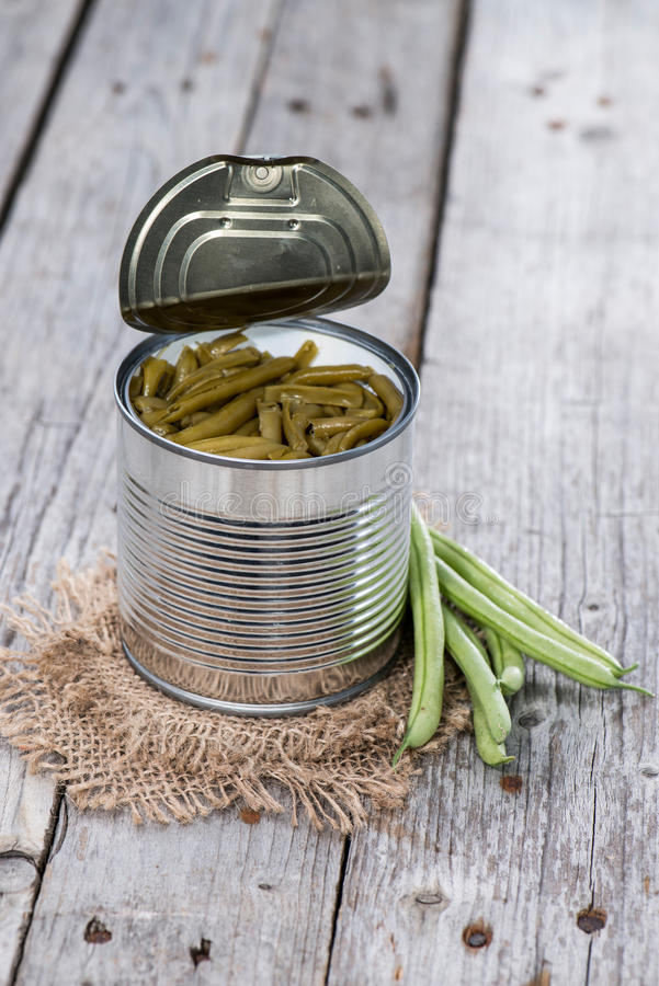 Portion of cooked Beans stock images