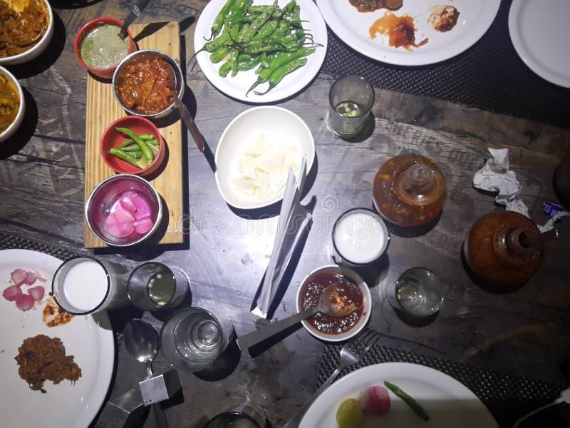 Portion de nourriture de restaurant images libres de droits
