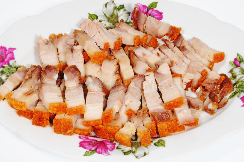 Portion de porc rôti photo libre de droits