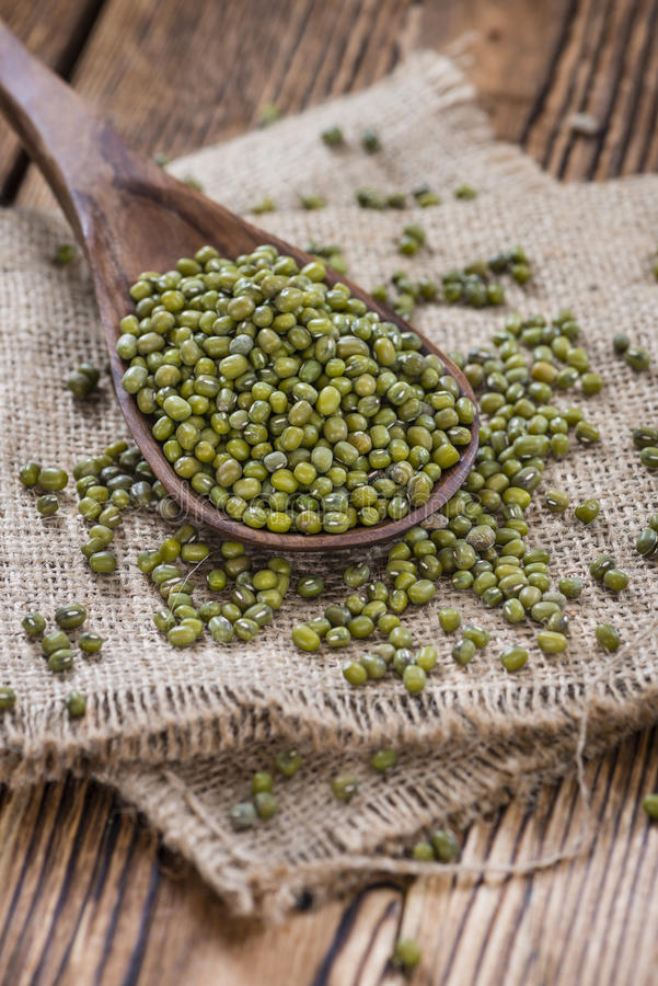 Portion of Mung Beans stock photography