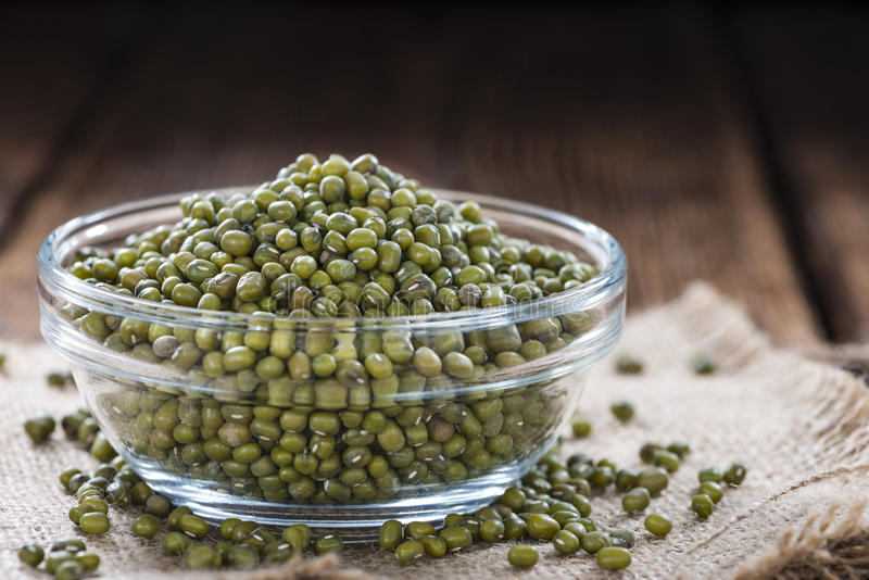 Portion of Mung Beans stock image