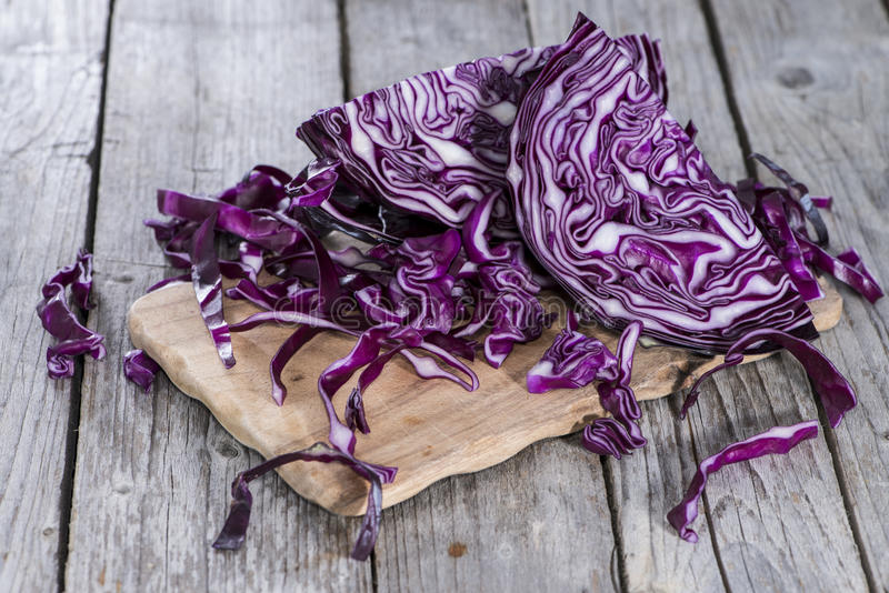 Portion of Red Coleslaw royalty free stock photos