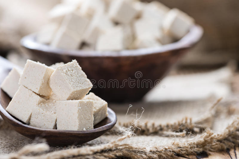 Portion of Tofu royalty free stock photography