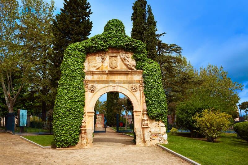 Portique de place de cathédrale de Zamora en Espagne photo stock