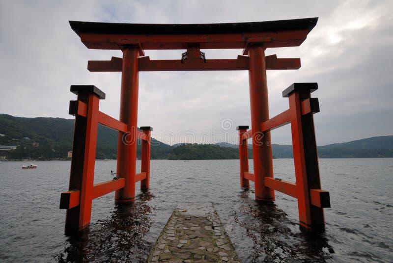 portjapan torii royaltyfri bild