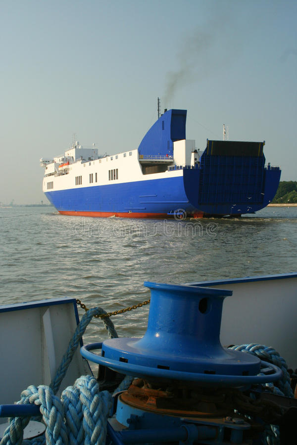 PortKlaipeda Ostsee Litauen lizenzfreies stockfoto