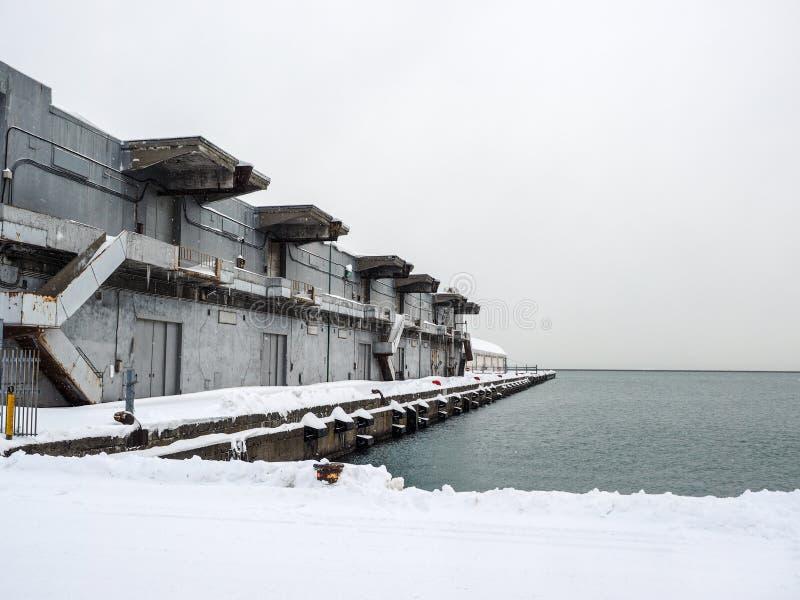 Portlager i snö royaltyfri fotografi