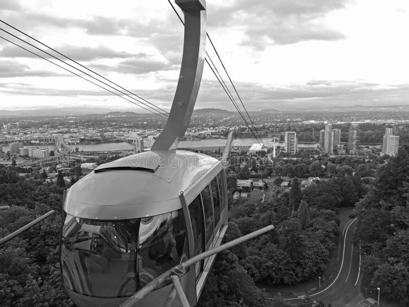 Portland Aerial Tram stock photography