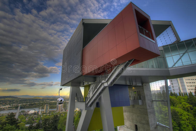 Portland Aerial Tram Station royalty free stock images