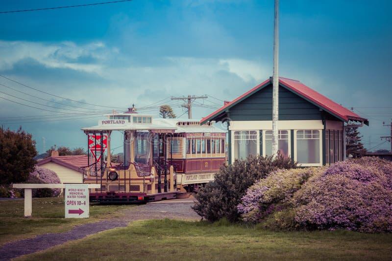 Portland, Australie - 25 septembre 2017 : Tram de câble de Portland à photos libres de droits
