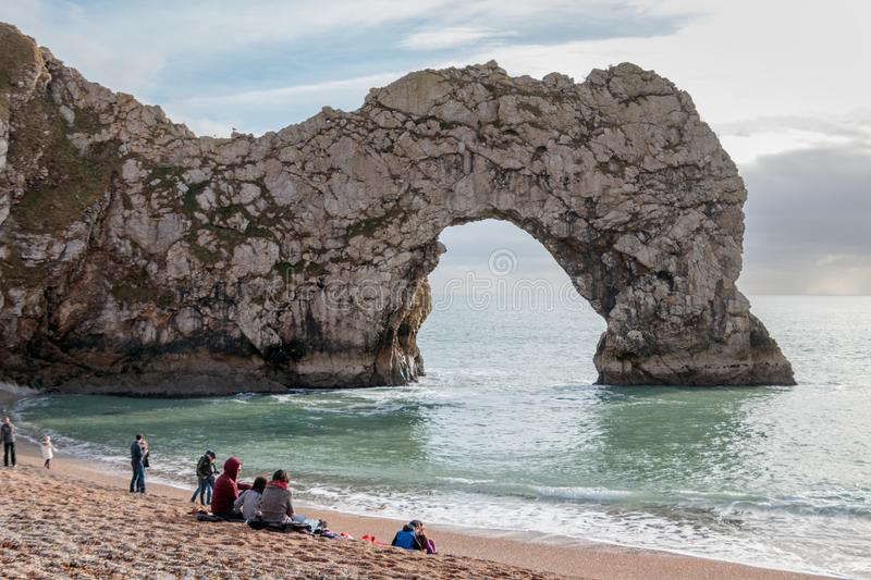 PORTLAND BILL, DORSET/UK - FEBRUARY 16 : View of Durdle Door on royalty free stock photos