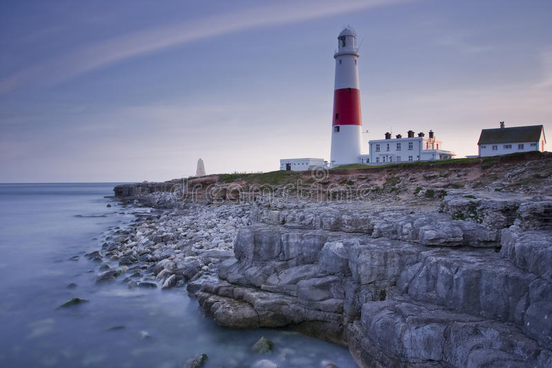 Portland Bill lighthouse. The iconic Portland Bill lighthouse in Dorset on the Isle of Portland royalty free stock photos