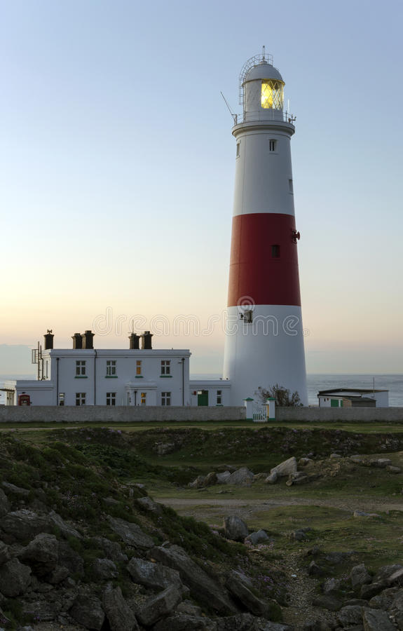 Download Portland Bill Lighthouse stock image. Image of white - 28635999