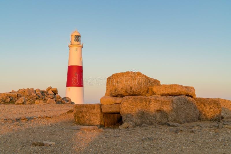 Portland Bill Lighthouse, costa jurássico, Dorset, Reino Unido fotos de stock