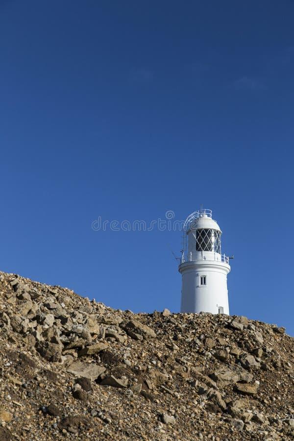 Portland Bill Lighthouse i Weymouth, Förenade kungariket arkivbild
