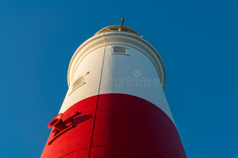 Portland Bill Lighthouse, Jurassic Coast, Dorset, UK. Clear sky at Portland Bill Lighthouse, Jurassic Coast, Dorset, UK royalty free stock images