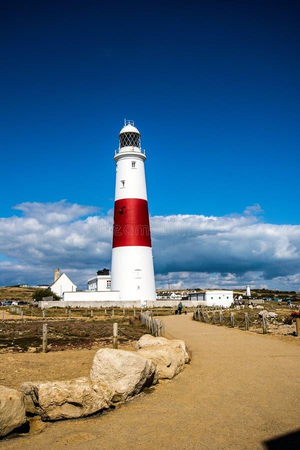 Portland Bill Lighthouse, Dorset, England. stock photos