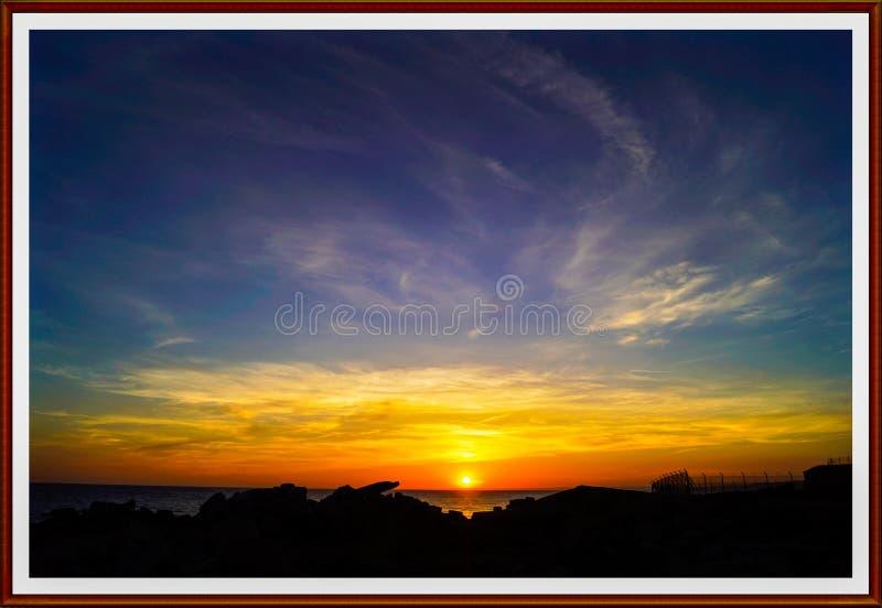 Portland Bill Sunset fotos de stock royalty free