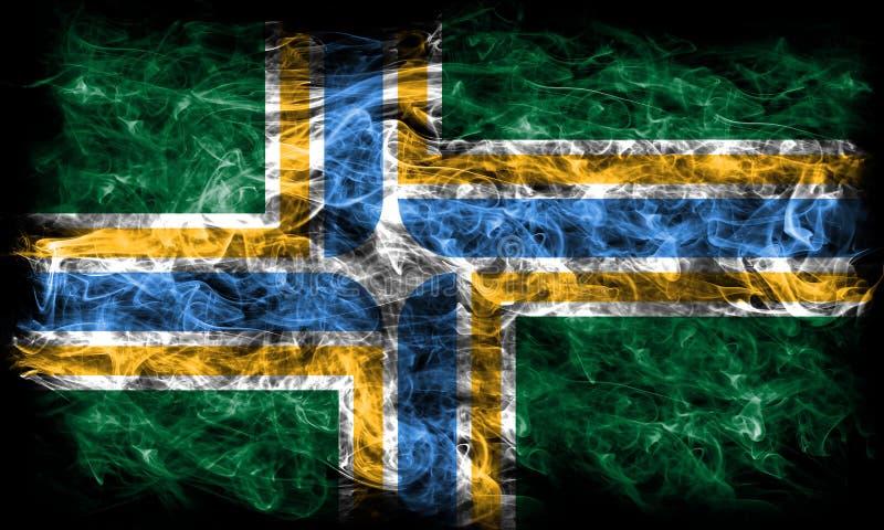 Portland city smoke flag, Oregon State, United States Of America.  royalty free stock image