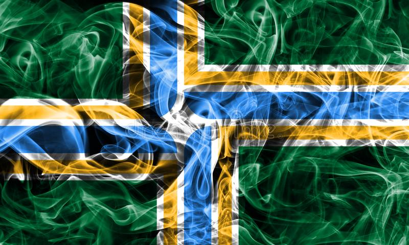 Portland city smoke flag, Oregon State, United States Of America.  royalty free stock photos