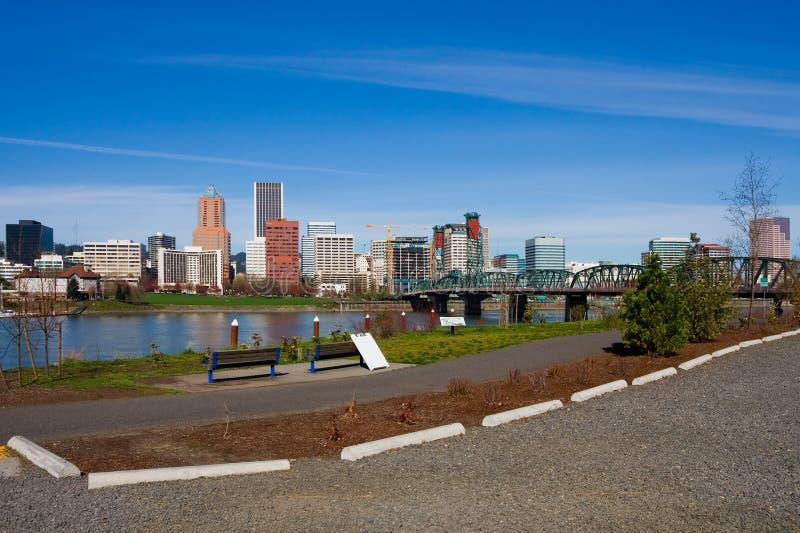 Portland de stad in (de staat van Oregon) royalty-vrije stock afbeelding