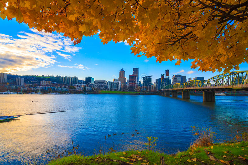Portland, de Waterkant van Oregon stock fotografie