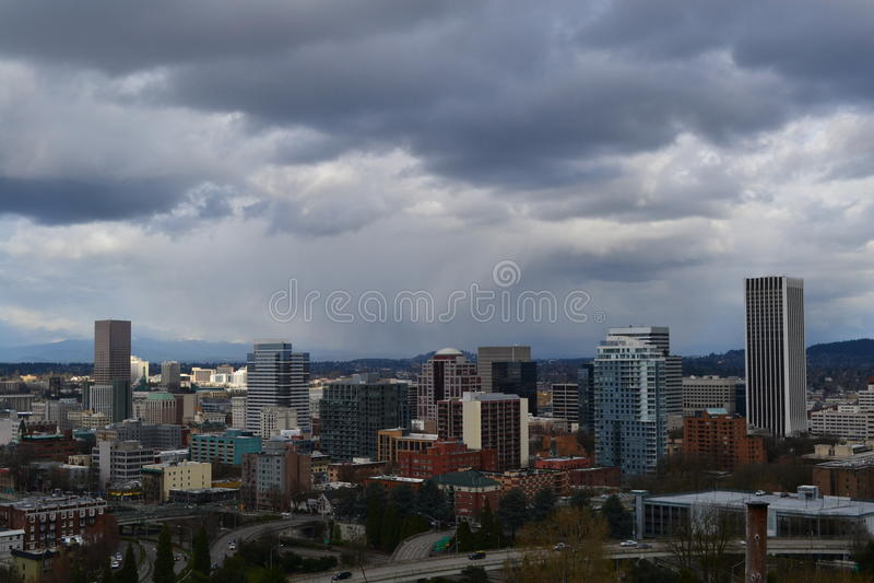 Portland Downton lizenzfreie stockfotografie