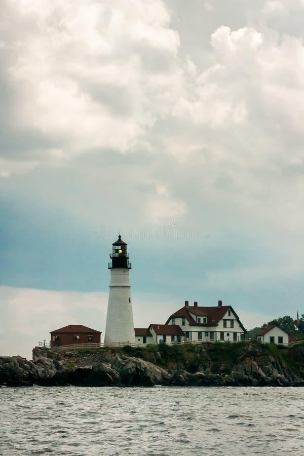Portland głowy latarnia morska blisko Portlandzkiego Maine obrazy royalty free