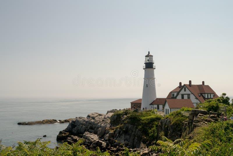 Portland głowy latarnia morska, Portlandzki Maine, usa obraz stock