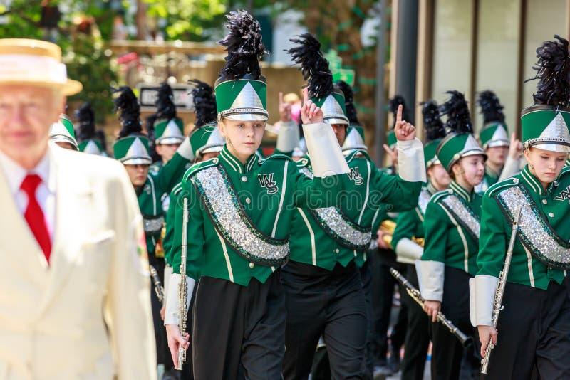 Portland Grand Floral Parade 2014 stock photo
