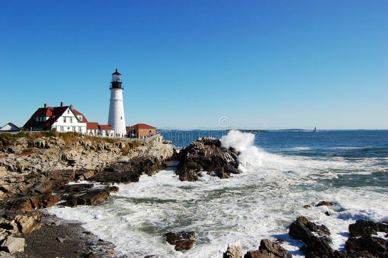 Portland-Hauptleuchtturm, Maine stockfotos