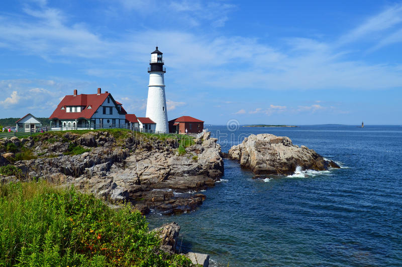 Portland Head Light. The Portland Head Light. A historic light house in Cape Elizabeth Maine royalty free stock photography