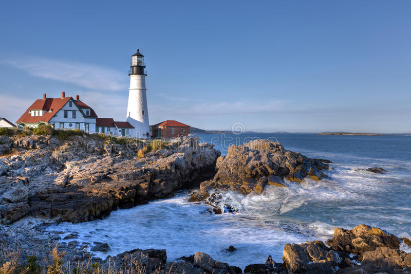 Portland Head Light Lighthouse Stock Image Image Of