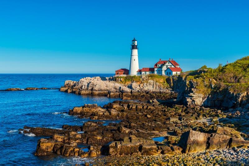 Portland Head Light Lighthouse in Cape Elizabeth Maine. Portland Head Light Lighthouse in Cape Elizabeth, Maine, USA royalty free stock photo
