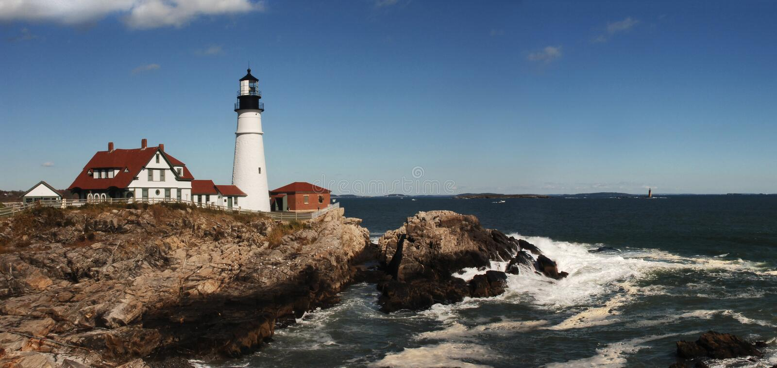 Download Portland Head Lighthouse stock image. Image of beacon - 1385145