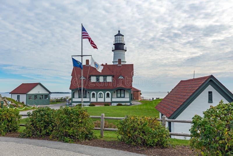 Portland Head Lighthouse, Cape Elizabeth, Fort Williams Park, Po royalty free stock photo
